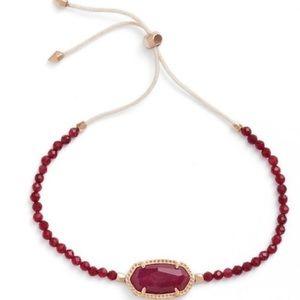 Elaina Slider Bracelet (Maroon Jade/ Rose Gold)